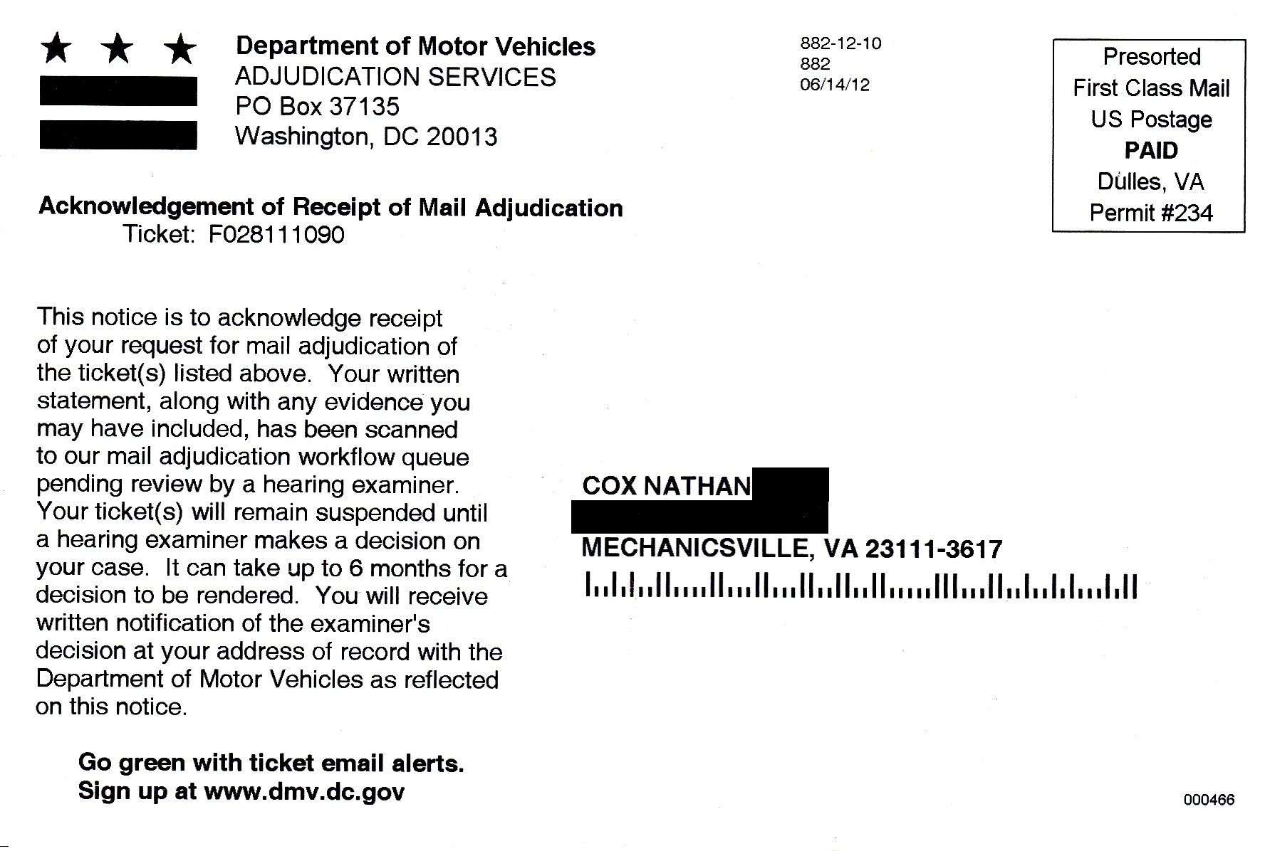 speeding ticket reduction letter sample